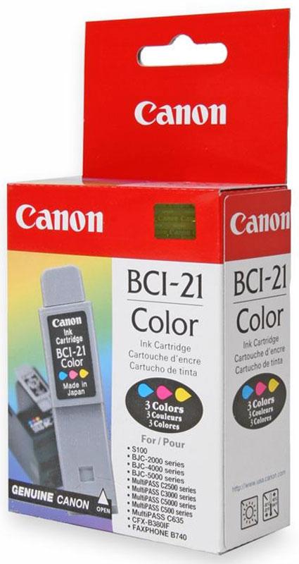 Canon BCI-21, Cyan, Magenta, Yellow картридж для BJC-40/41/42/43/4550/4650/5100/20000955A002Картридж Canon BCI-21 обеспечивает превосходное качество печати. Сочетает в себе высокое качество, компактность и простоту установки. Обеспечивает до 120 страниц печати.