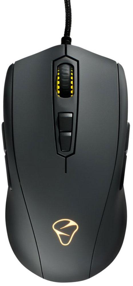 Mionix Avior 7000, Black игровая мышьAVIOR-7000Именно с модели Avior 7000 компания Mionix получила широчайшее признание как топовый производитель геймерской периферии. Сплав дизайна, эргономичного минимализма и потрясающей функциональности – эти характеристики описывают мышку Avior 7000 наилучшим образом. Благодаря симметричности конструкции (включая дублирование кнопок вперёд, назад) манипулятор инвариантен к выбору руки, чем разработчики периферии балуют геймеров редко. Благодаря удачной конструкции мышки особенности хвата и размеры ладони пользователя также не принципиальны - Avior 7000 сидит в руке монолитно, не вызывая и намёка усталости в динамичных игровых баттлах. А вогнутая форма основных клавиш предохраняет пальцы от соскальзывания при амплитудных движениях. Фирменное ПО Mionix позволяет прецизионно установить чувствительность сенсора, переназначить кнопки, записать макросы, отрегулировать высоту отрыва и частоту опроса. Настройки хранятся в пяти профилях внутренней памяти Avior 7000,...