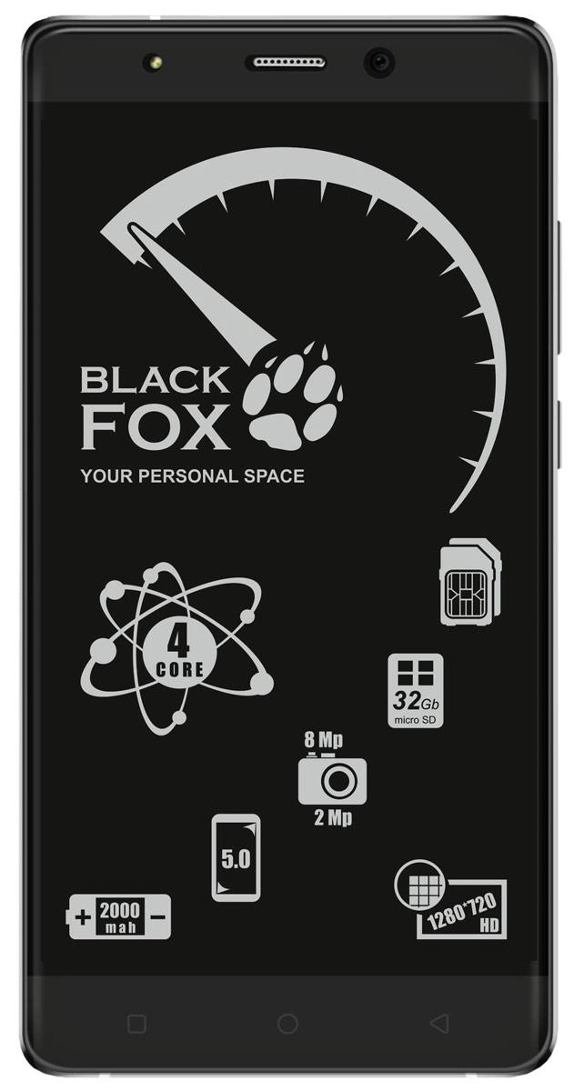 Black Fox BMM 532S, Silver4627102591043Смартфон Black Fox BMM 532S имеет сенсорный IPS-экран с диагональю 5 дюймов, что обеспечивает комфорт при серфинге в интернете, просмотре видео и играх. Данная модель оснащена мощным 4-ядерным процессором и оперативной памятью 1 ГБ, что обеспечивает быстродействие устройства даже в режиме многозадачности. Black Fox BMM 532S поддерживает 2 SIM-карты, поэтому смартфон можно использовать в качестве личного и рабочего одновременно. Тыловая камера 8 Мпикс позволяет делать качественные фото и снимать видео, а фронтальная камера 2 Мпикс обеспечивает видеосвязь и яркие селфи. Смартфон поддерживает карты памяти объемом до 32 ГБ, что позволяет хранить всю необходимую информацию, включая фото, видео и музыку. Поддержка интернета 3G позволяет оставаться на связи даже там, где нет Wi-Fi. Телефон сертифицирован EAC и имеет русифицированный интерфейс меню и Руководство пользователя.