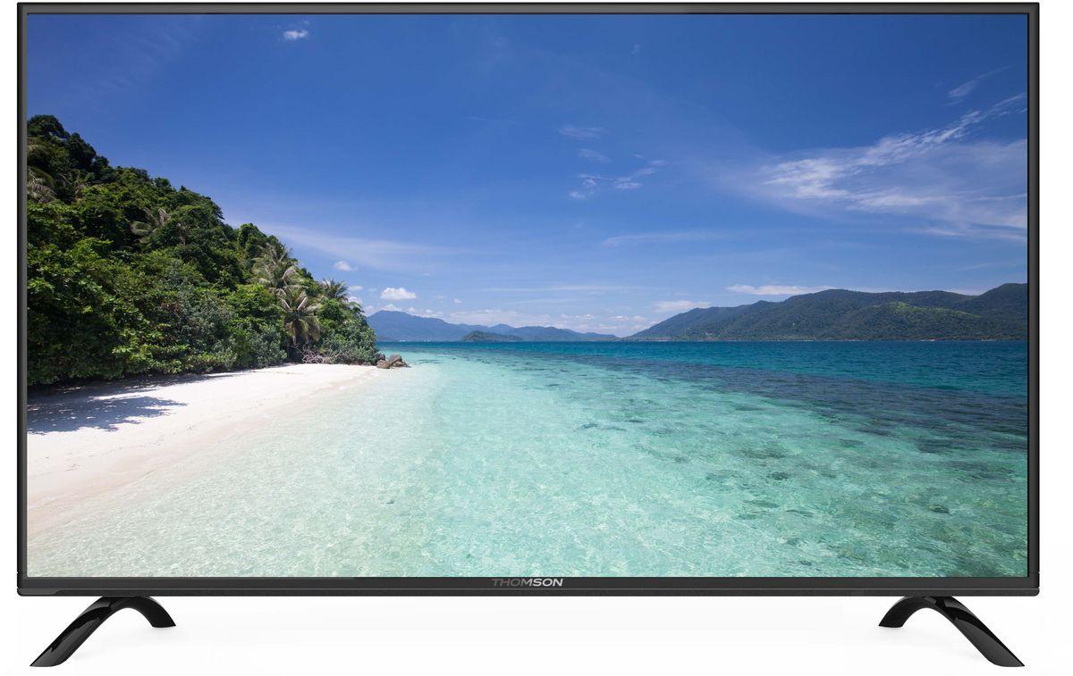 Thomson T32D21SH-01B телевизорT32D21SH-01BТелевизор Thomson T32D21SH-01B с диагональю 32 дюйма оборудован LED подсветкой и поддерживает разрешение HD (1366х768). Оснащен системой динамиков 2.0, выдающих звук общей мощностью 10 Вт. Источником сигнала для качественной реалистичной картинки служат не только цифровые эфирные и кабельные каналы, но и любые записи с внешних носителей, благодаря универсальному встроенному USB медиаплееру. 3 HDMI-порта позволяют подключать современные устройства. Thomson T32D21SH-01B обладает рядом функций, позволяющих добиться наилучшего качества картинки и звука. В их числе шумоподавление. Кроме того, телевизор оснащен удобной функцией TimeShift, благодаря которой при условии подключения к ТВ USB-накопителя, телевизионные трансляции можно ставить на паузу.