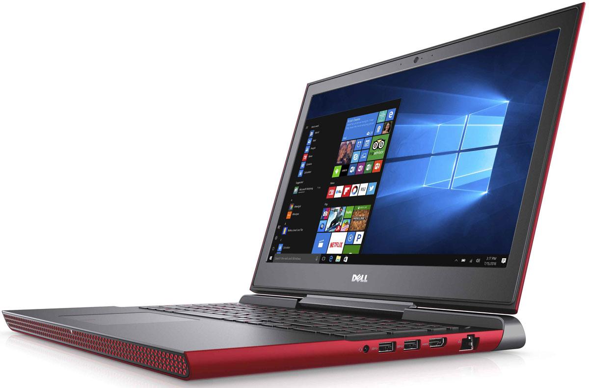 Dell Inspiron 7567, Red (7567-9330)7567-9330Получайте совершенно новые впечатления от развлечений, игр и видео с ноутбуком Dell Inspiron 15 благодаря мощному процессору Intel Core i5 седьмого поколения и графическому адаптеру NVIDIA GeForce GTX1050M.Наслаждайтесь изображением высочайшего качества на дисплее, выполненном по технологии IPS, с антибликовым покрытием. Этот дисплей поддерживает разрешение Full HD (1920x1080) и характеризуется широким узлом обзора.Предотвратите ошибочные нажатия клавиш с помощью клавиатуры с подсветкой, которая поможет вам играть или работать на компьютере даже в темноте. А чувствительная сенсорная панель обеспечит точную поддержку жестов с превосходным временем реакции.Погрузитесь в мир отличного звука с помощью технологии Waves MaxxAudio Pro. Разработанные корпорацией Dell широкополосные и низкочастотные динамики используют все возможности программного обеспечения для формирования звука студийного качества, поэтому вы не упустите ни малейшего оттенка звука.Точные характеристики зависят от модификации.Ноутбук сертифицирован EAC и имеет русифицированную клавиатуру и Руководство пользователя.