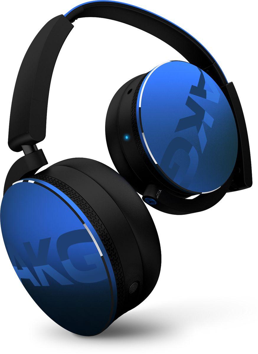 AKG Y50BT, Blue беспроводные наушникиY50BTBLUИщете большие накладные наушники, достаточно стильные и при этом позволяющие свободно творить? Тогда вам подойдут наушники AKG Y50BT.Поддержка Bluetooth для полной совместимости с современными устройствами и более 20 часов автономной работы от аккумулятора для тех, кто всегда готов к творчеству, дополняют 40-мм мембраны модели AKG Y50BT, которые создают сбалансированный мощный звук и качество звучания, в свое время подарившее предыдущей модели Y50 награду Продукт года от издания What Hi-Fi.Но этим не ограничиваются преимущества этих наушников - ведь их внешний вид не уступает акустическому совершенству. Три выразительных цвета и особая обработка поверхностей придают наушникам AKG Y50BT оригинальный матово-глянцевый вид, благодаря которому смотреть на них хочется ничуть не меньше, чем слушать их.Встроенный аккумулятор с возможностью зарядки от USB. Когда заряд аккумулятора на исходе, вы всегда можете подзарядить его через обычный USB-вход.Забудьте о проводах и подключитесь к любому устройству с поддержкой Bluetooth. Технологии aptX и AAC позволяют передавать звук по Bluetooth без искажений. Трехосевой механизм складывания обеспечивает максимальную компактность при хранении и транспортировке.
