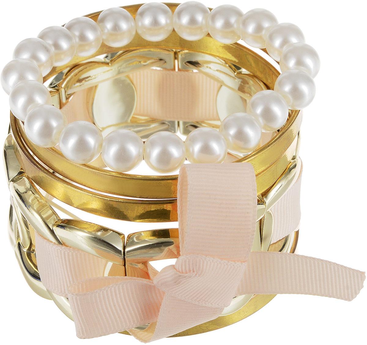 Браслет Art-Silver, цвет: золотой. 05806559-33205806559-332Восхитительный браслет Art-Silver выполнен из бижутерного сплава. Изделие состоит из нескольких разных декоративных элементов. Стильный браслет Art-Silver поможет дополнить любой образ и привнести в него завершающий яркий штрих.