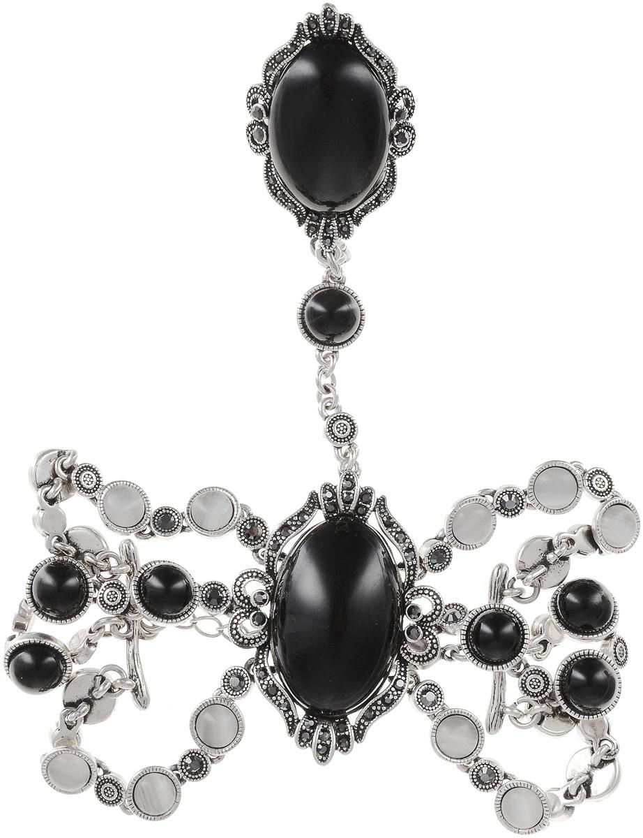 Комплект украшений женский Art-Silver, цвет: серебряный. 065588-002-2873. Размер 16,5065588-002-2873Бижутерный сплав, куб.циркон, полимер, кош.глаз.