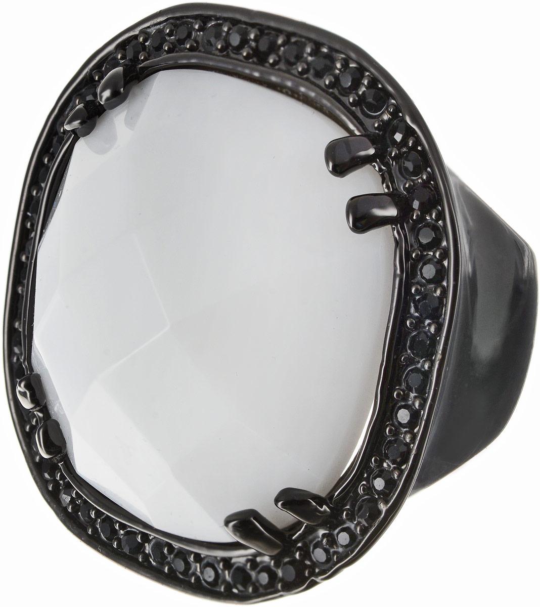 Кольцо Art-Silver, цвет: черный, белый. 360-1283. Размер 17,5Коктейльное кольцоОригинальное кольцо Art-Silver выполнено из бижутерного сплава с гальваническим покрытием. Кольцо украшено декоративными вставками.Элегантное кольцо Art-Silver превосходно дополнит ваш образ и подчеркнет отменное чувство стиля своей обладательницы.