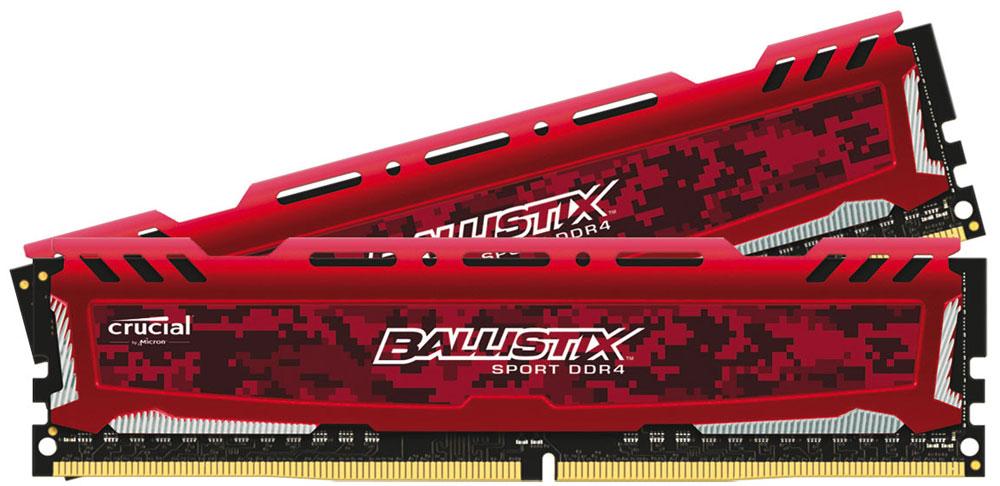 Crucial Ballistix Sport LT DDR4 32GB 2x16GB 2400МГц, Red модуль оперативной памятиBLS2C16G4D240FSEКомплект модулей оперативной памяти Crucial Ballistix Sport типа DDR4 обеспечивает увеличенную рабочую частоту (по сравнению с предыдущем поколением) при сниженном тепловыделении и экономном энергопотреблении. Благодаря низкому напряжению (1,2 В), снижается потребление энергии, что обеспечивает отсутствие нагрева и бесшумную работу ПК. Теплоотвод выполнен из чистого алюминия, что ускоряет рассеяние тепла.Объем памяти 32 ГБ позволит свободно работать со стандартными, офисными и профессиональными ресурсоемкими программами, а также современными требовательными играми. Работа осуществляется при тактовой частоте 2400 МГц и пропускной способности, достигающей до 19200 Мб/с, что гарантирует качественную синхронизацию и быструю передачу данных, а также возможность выполнения множества действий в единицу времени. Параметры тайминга 16-16-16 гарантируют быструю работу системы. Имеется поддержка XMP 2.0 для удобного разгона в автоматическом режиме.