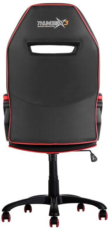 ThunderX3 TX3-10, Black Red профессиональное геймерское креслоTX3-10BRПрочная металлическая основа. Мягкий кожзам. Тип механизма бабочка. Пневматическая регулировка высоты сиденья. Угол раскачивания 3° - 18°. 50 мм нейлоновые колесики.