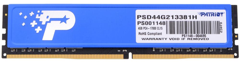 Patriot DDR4 DIMM 4Gb 2133МГц модуль оперативной памяти (PSD44G213381H)PSD44G213381HНебуферезированная память Patriot DDR4 PSD44G213381H предоставляет качество работы, надежность и производительность - основные требования для современных компьютеров. Этот модуль емкостью 4 ГБ, спроектирован для работы на частоте 2133 МГц PC4-17000 и таймингах CAS 15 для лучшего отклика системы при использовании необходимых приложений. Модули памяти Patriot изготовлены из материалов высочайшего качества и протестированы вручную. Patriot заверяет, что каждый модуль памяти соответствует и превышает стандарты отрасли: апгрейд безо всяких замешательств.