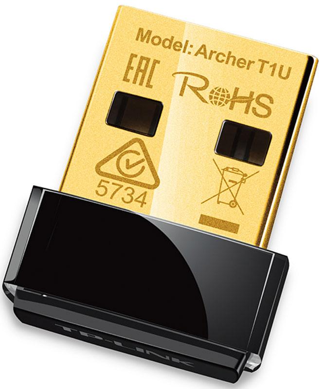 TP-Link Archer T1U беспроводной Wi-Fi адаптерArcher T1UУльтракомпактный USB-адаптер TP-Link Archer T1U позволит вам подключать ПК или ноутбук к беспроводной сети на скорости до 433 Мбит/с. Этот миниатюрный адаптер разработан для того, чтобы быть максимально удобным и незаметным. Устройство поддерживает расширенные настройки шифрования Wi-Fi соединения, простую установку и режим программной точки доступа (Soft AP). Размер устройства позволяет подключать его к любому порту USB и оставлять его подключенным на продолжительное время. Адаптер не блокирует соседние порты USB и фиксируется, позволяя не беспокоиться о том, что оно выпадет при транспортировке. Archer T1U обеспечивает скорость беспроводной передачи данных до 433 Мбит/с на частоте 5 ГГц, что делает его идеальным для просмотра потокового видео, аудио и звонков по Интернету. Работая на свободной частоте 5 ГГц, Archer T1U удаётся эффективно избегать интерференции сигналов и обеспечивать надёжное беспроводное подключение. Переключая...