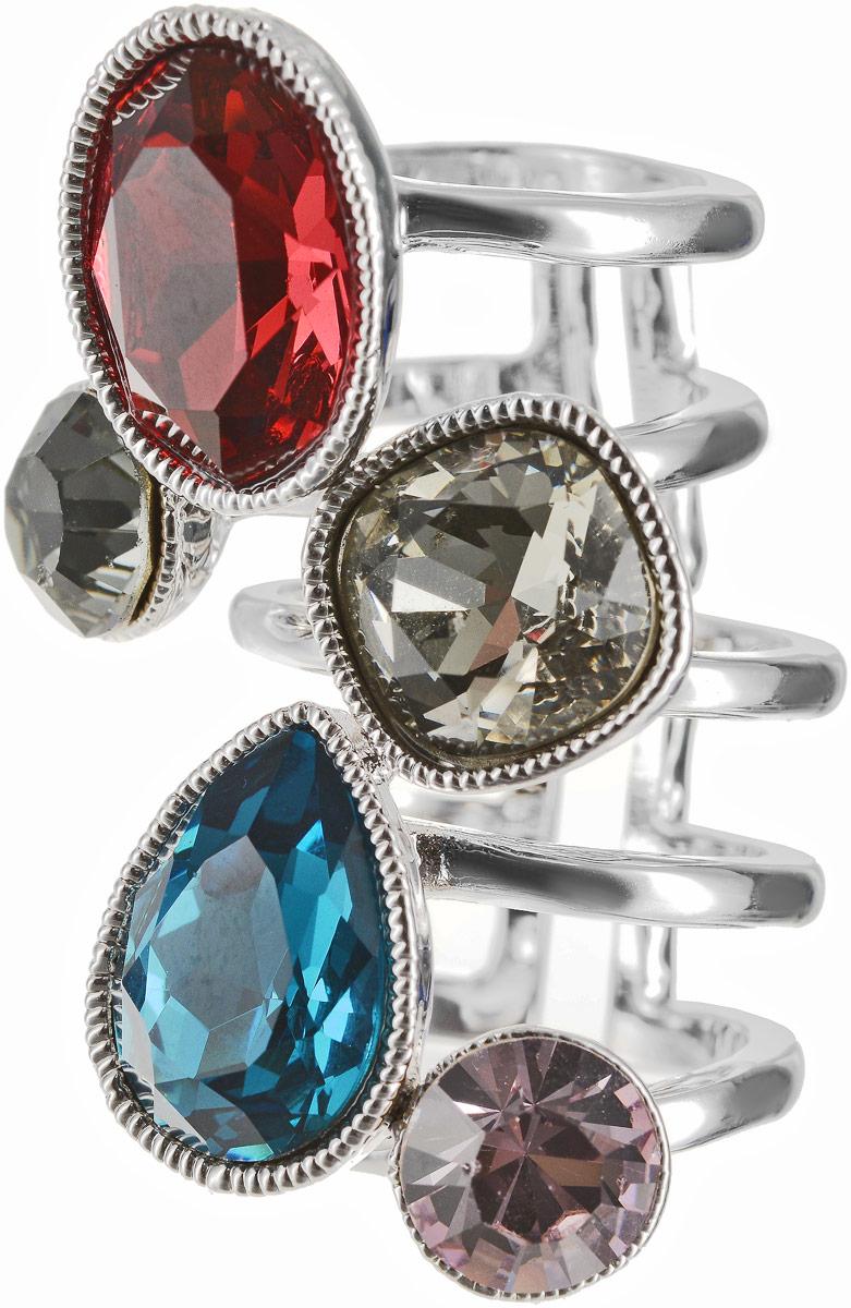 Кольцо Art-Silver, цвет: серебряный. 054912-1290. Размер 17Коктейльное кольцоОригинальное кольцо Art-Silver выполнено из бижутерного сплава с гальваническим покрытием. Кольцо украшено декоративными вставками.Элегантное кольцо Art-Silver превосходно дополнит ваш образ и подчеркнет отменное чувство стиля своей обладательницы.