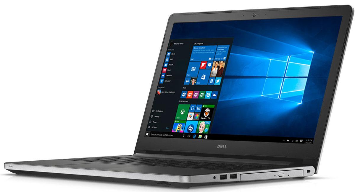 Dell Inspiron 5759-7997, Silver5759-7997Dell Inspiron 5759 - достаточно просторный для воплощения ваших идей. Современный 17,3-дюймовый ноутбук с процессором Intel, дисководом DVD-дисков и ярким дисплеем с поддержкой разрешения HD+. Быстрая загрузка веб-страниц, игр и приложений благодаря процессорам Intel, обеспечивающим высочайшую производительность и потрясающее качество изображения. Увеличенное время работы без подзарядки. Удаляйтесь от сети электропитания без всяких опасений. Вместительный аккумулятор поможет вам увеличить время между зарядками до 7 часов. Поддержка технологии True Color обеспечивает возможность настройки насыщенности цветов в соответствии с личными предпочтениями пользователя. Скорректируйте температуру цвета и тон, чтобы установить уровень насыщенности цветов в соответствии со своими потребностями. Чем бы вы ни занимались - микшированием, прослушиванием потокового аудио или общением, - технология MaxxAudio компании Waves делает низкие частоты...