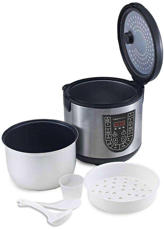 Ves SK-A12F-B мультиваркаSK-A12F-BМультиварка Ves SK-A12F имеет 11 программ приготовления различных блюд. Оснащена 4-х модульным LED дисплеем. Комплектуется чашей со специальным угольным покрытием. Подходит для приготовления диетического и детского питания. Ves SK-A12F имеет возможность ручной настройки времени (до 12 часов) и температуры приготовления (от 35 до 160°C). Ручные настройки в сочетании с вашим опытом помогут добиться наиточнейшего выполнения рецептов и создания новых.