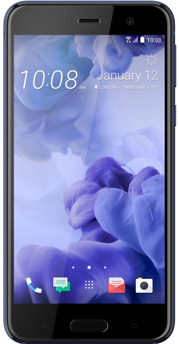 HTC U Play 64GB, Sapphire Blue99HALV063-00HTC U Play - удивительный смартфон с экраном 5,2, который с легкостью ляжет в вашу ладонь. Его уникальный переливающийся дизайн создан, чтобы дать тебе свободу самовыражения.HTC Sense Companion - верный спутник, который постоянно обучается вашим привычкам и действиям, которые вы совершаете каждый день. Он может посоветовать одеться потеплее и выехать на работу чуть раньше, если прогноз погоды указывает на возможность снегопада; он напомнит взять с собой внешний аккумулятор, если в ваших планах значится длительная поездка; он подскажет отличный ресторан в незнакомом городе и поможет забронировать столик. Но главное, он постоянно меняется и совершенствуется, со временем узнавая вас лучше.HTC U Play поставляется со встроенной системой распознавания речи. Поэтому он способен узнать ваш голос и ответить. Достаточно лишь слова, чтобы разблокировать телефон, послать сообщение или начать навигацию.Функция HTC USonic анализирует строение ушного канала с помощью звуковых импульсов и подстраивает звучание под вас. Почти так же, как профессиональный специалист по настройке звука, только весь процесс происходит в вашем телефоне. Теперь вы действительно можете услышать все детали!В HTC U Play есть все, чтобы фотографии лучших моментов стали по-настоящему незабываемыми. Система оптической стабилизации позволяет увеличить выдержку вдвое и избежать смазанных фото. Фазовый автофокус ускоряет процесс наведения на резкость. А режим автоматической съемки HDR поможет сделать отличные фото в условиях недостаточного или контрового освещения.С фронтальной камерой HTC U Play в вашем распоряжении два режима съемки - с разрешением 16 Мпикс или с использованием технологии UltraPixel. Делаете фотографию во время ужина при свечах? Вы добьётесь лучшего результата в режиме UltraPixel, в которым камера в 4 раза более чувствительна к свету. Нужен максимум мельчайших деталей? Переключайтесь в режим 16 Мпикс.Телефон сертифицирован EAC и имеет русифицированный и
