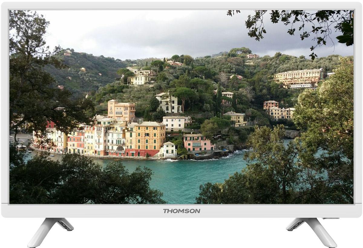 Thomson T24E20DH-01W телевизорT24E20DH-01WТелевизор Thomson T24E20DH-01W оборудован LED подсветкой и поддерживает разрешение HD (1366х768). Оснащен системой динамиков 2.0, выдающих звук общей мощностью 6 Вт. Источником сигнала для качественной реалистичной картинки служат не только цифровые эфирные и кабельные каналы, но и любые записи с внешних носителей, благодаря универсальному встроенному USB медиаплееру. HDMI-порт позволяет подключать современные устройства, Thomson T24E20DH-01W обладает рядом функций, позволяющих добиться наилучшего качества картинки и звука. В их числе шумоподавление. Кроме того, телевизор оснащен удобной функцией TimeShift, благодаря которой при условии подключения к ТВ USB-накопителя, телевизионные трансляции можно ставить на паузу.