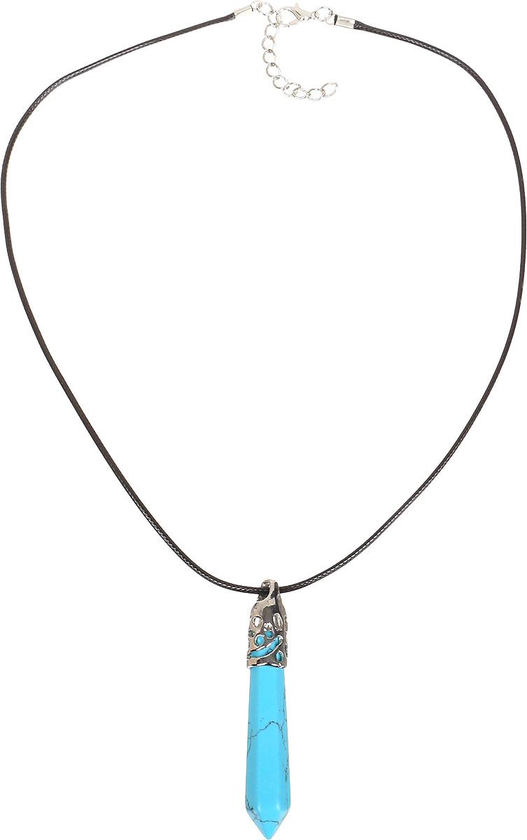 Кулон Револю Кристалл, цвет: голубой. пд-кам1708-GWLпд-кам1708-GWLКулон в комплекте со шнурком. Длина шнурка 45 см и удлиняющая цепочка 4 см. Украшения из великолепной голубой бирюзы выглядят так очаровательно! Благородный камень, украшающий ювелирные вещицы, напоминает своим цветом бесконечное высокое небо! Окунитесь в свежесть весёлой и солнечной весны с этим восхитительным украшением из нежной бирюзы - почувствуйте счастье и нежность каждой клеточкой тела!