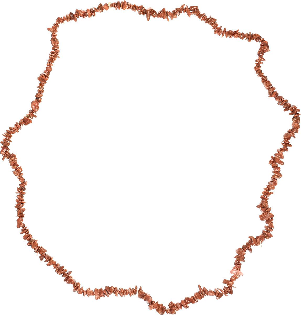 Бусы Револю Забава 2, цвет: коричневый. НАВ-75-90-1НАВ-75-90-1Авантюрин - камень, привлекающий деньги, достаток. Талисман для сохранения радостного настроения. Он дает владельцу глубину и эмоциональную чистоту. Предполагается, что в Европу натуральный авантюрин завезли торговцы индийскими драгоценными камнями, на собственном опыте убедившиеся в способности этого камня притягивать удачу. Обостряет все эмоции, делая их более тонкими, повышает оптимизм и уверенность в себе, дарует бодрость духа, ясность ума.