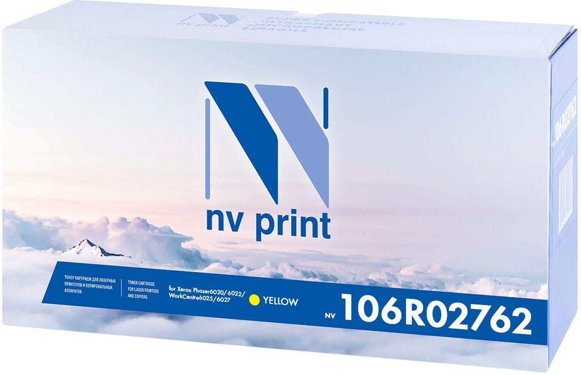 NV Print 106R02762Y, Yellow картридж для Xerox Phaser 6020/6022/WorkCentre 6025/6027NV-106R02762YКартридж NVP лазерный совместимый Xerox, производитель NV Print, модель NV-106R02762 Yellow для Xerox Phaser 6020/6022/WorkCentre 6025/6027, ресурс 1000 копий.