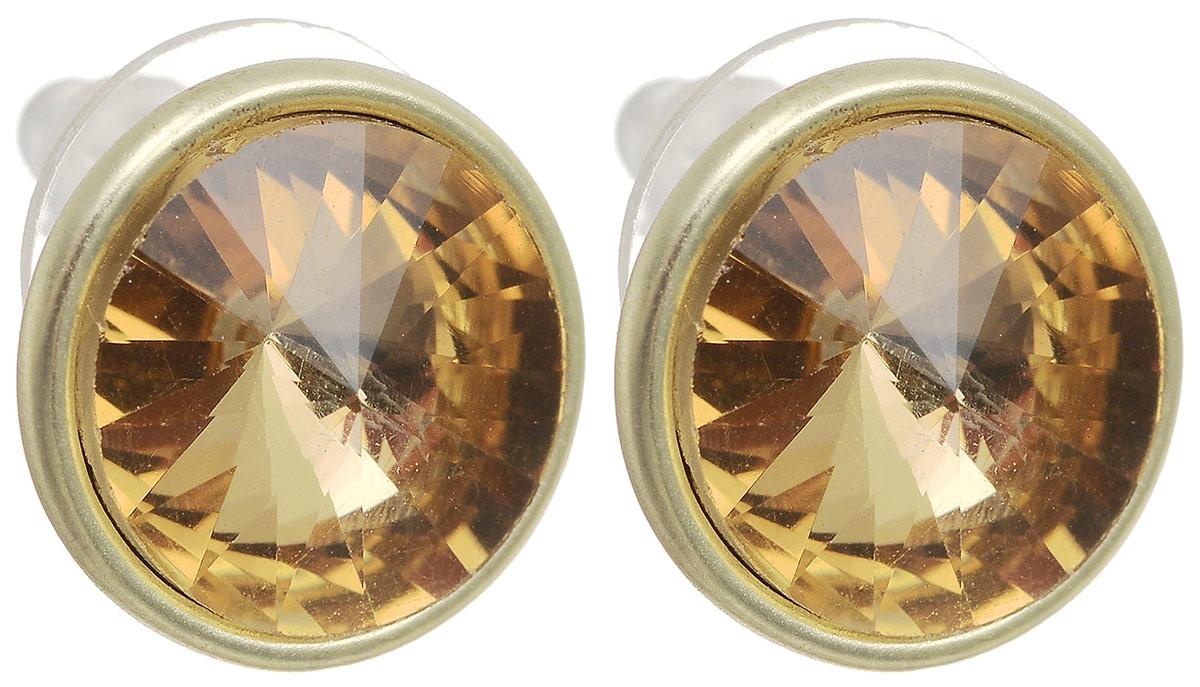 Серьги-пусеты Моника. Бижутерное стекло, гипоаллергенный бижутерный сплав золотого тона. Krikos, Испанияpokka-4078-14-1Серьги-пусеты Моника. Бижутерное стекло, гипоаллергенный бижутерный сплав золотого тона. Krikos, Китай. Размер - диаметр 1,5 см.