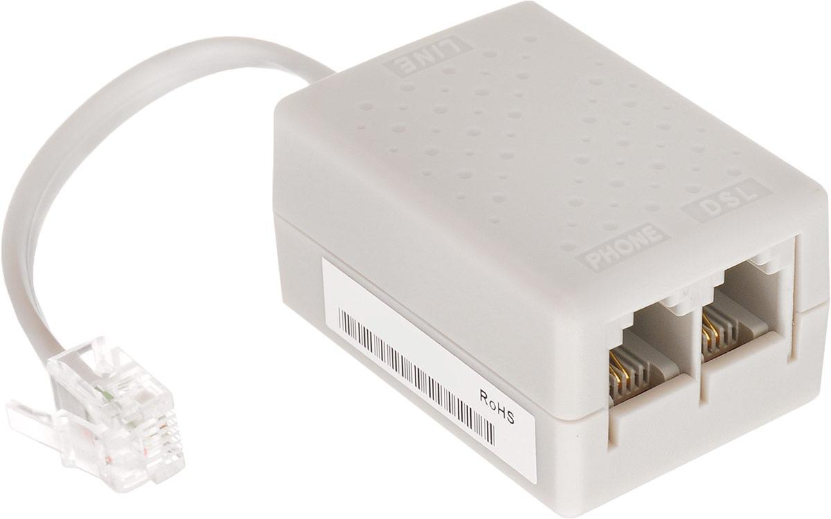 UPVEL US-AA ADSL сплиттерUS-AAADSL-сплиттер Upvel US-AA предназначен для Annex-A телефонных линий. Сплиттер позволяет подключить ADSL-модем и телефон в одну розетку и устраняет шум от ADSL в телефоне и помехи от телефонного оборудования, которые могут помешать передаче данных.Сопротивление «Line» - «Phone»10 ОмВносимые потери:1 фильтр: 0.5dB5 фильтров: максимально 1 дБ Уважаемые клиенты! Обращаем ваше внимание на возможные изменения в цвете некоторых деталей товара. Поставка осуществляется в зависимости от наличия на складе.