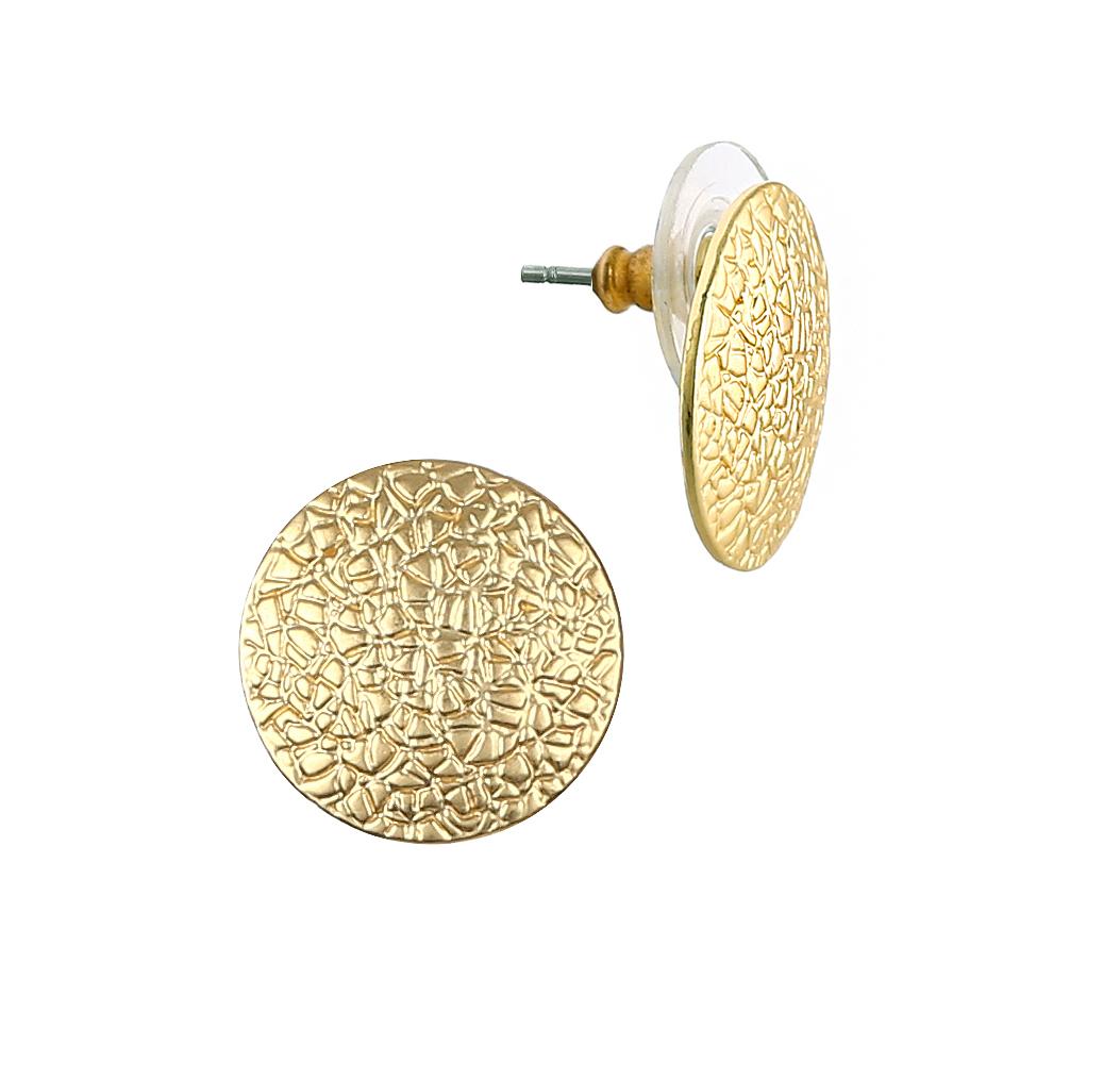 Серьги Модные истории, цвет: золотистый. 15/051415/0514Серьги из бижутерийного сплава золотого цвета. Застежка - штифтовый замок (гвоздик).