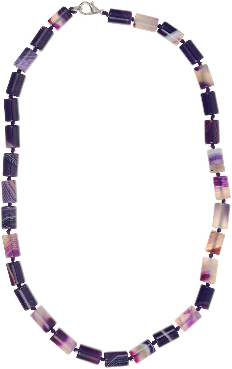 Бусы Револю Пиза, цвет: фиолетовый. П8173Колье (короткие одноярусные бусы)Размер бусин: 0,8 х 1,2 см. Многоцветные агаты выглядят в украшениях волнующе! Прозрачные их слои чередуются с непрозрачными, отчего кажется, будто удивительные агаты знают какую-то загадку! Окружите свой образ чарующим сиянием волшебства - примерьте это диковинное украшение с невероятными агатами!