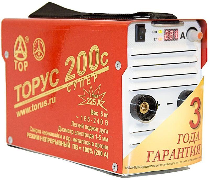 Инвертор сварочный Торус Супер 200с, с проводами 95566020