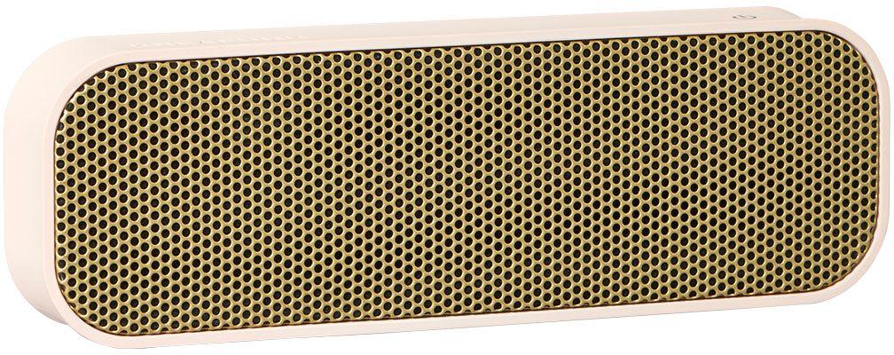 Kreafunk aGROOVE, Light Pink беспроводная портативная колонкаKfdz56Легкая беспроводная колонка со встроенным аккумулятором. Подключается к смартфону через Bluetooth или с помощью кабеля (mini-jack), который входит в комплект. Колонка также совместима с любым устройством, оснащенным Bluetooth-гарнитурой. Простой, лаконичный и стильный дизайн. Корпус колонки имеет покрытие soft touch, приятное на ощупь, а внутри встроен микрофон для совершения hands free звонков. Благодаря компактному размеру aGROOVE легко брать с собой, а качественные компоненты дают чистый и насыщенный звук. Время работы без подзарядки – до 20 часов (при 80% громкости). Поставляется в стильной деревянной коробке, которую украшают слова известного американского радиоведущего Джорджа Еллинека: «История человечества – это история его песен». Технические характеристики: Встроенный аккумулятор (Li-ion) 500 мA/ч Bluetooth 3.0 EDR standard stereo technique Напряжение при зарядке: DC-5.0В – USB-Кабель. Зарядный ток: 1-2 A (Max). Рабочее напряжение: 3.7-4.2В ...