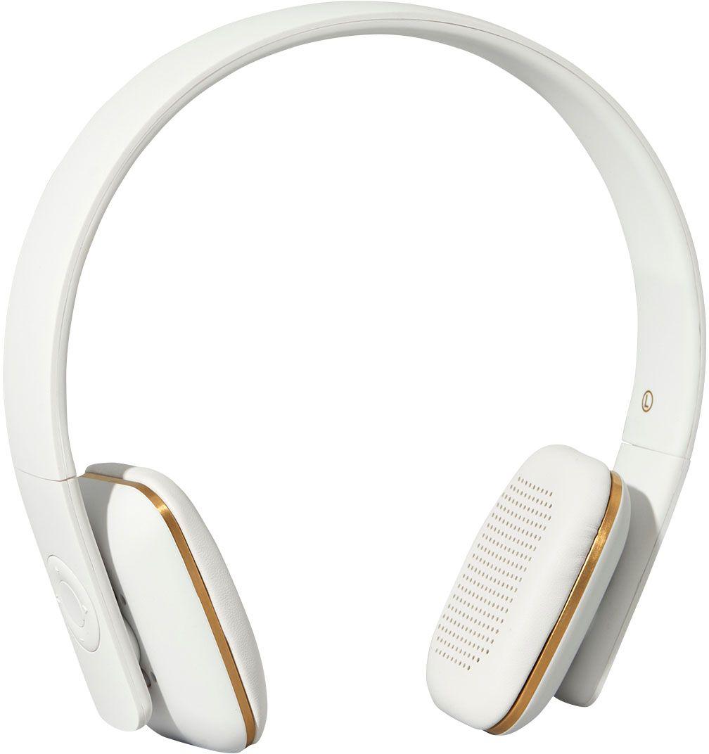 Kreafunk aHEAD, White наушникиKfss01aHEAD – беспроводные наушники, созданные для настоящих меломанов и модников. Это не только полезный гаджет, но и стильный аксессуар, который дополнит имидж и подчеркнет индивидуальность. Наушники оснащены Bluetooth-гарнитурой и совместимы с любым смартфоном. Панель управления находится на одном из наушников, что позволяет легко регулировать музыку, уровень громкости или даже принимать телефонные звонки. Подушки наушников выполнены из мягкой эко-кожи, а настраиваемый ободок имеет приятное покрытие soft touch. Великолепное качество звука, простота эксплуатации и лаконичный дизайн – этим гаджетом захочется пользоваться изо дня в день. В комплекте фирменный мешочек из PU кожи. Поставляются в стильной деревянной упаковке, поэтому могут стать отличным подарком меломанам и всем поклонникам скандинавского дизайна. Также коробку украшают слова Фридриха Ницше: «Без музыки жизнь была бы ошибкой».Технические характеристики:Аккумулятор (Li-ion) 195 мАчДо 14 часов беспрерывной работы Bluetooth 4.0+EDRДиапазон воспроизводимых частот: 80 Гц - 20 кГцНизкий уровень шума и эхо CVC 6.0 Время работы 20 дней в режиме ожидания Продолжительность зарядки: 2,5 часаПанель управления: громкость, пропуск записи, воспроизведение, пауза, ответить/завершить вызовВстроенный микрофонДинамик 40 мм, сильный и чистый низкий звукЗарядный кабель micro-USB - USB в комплектеМеждународные сертификаты: CE, FCC, RoHS, WEEE