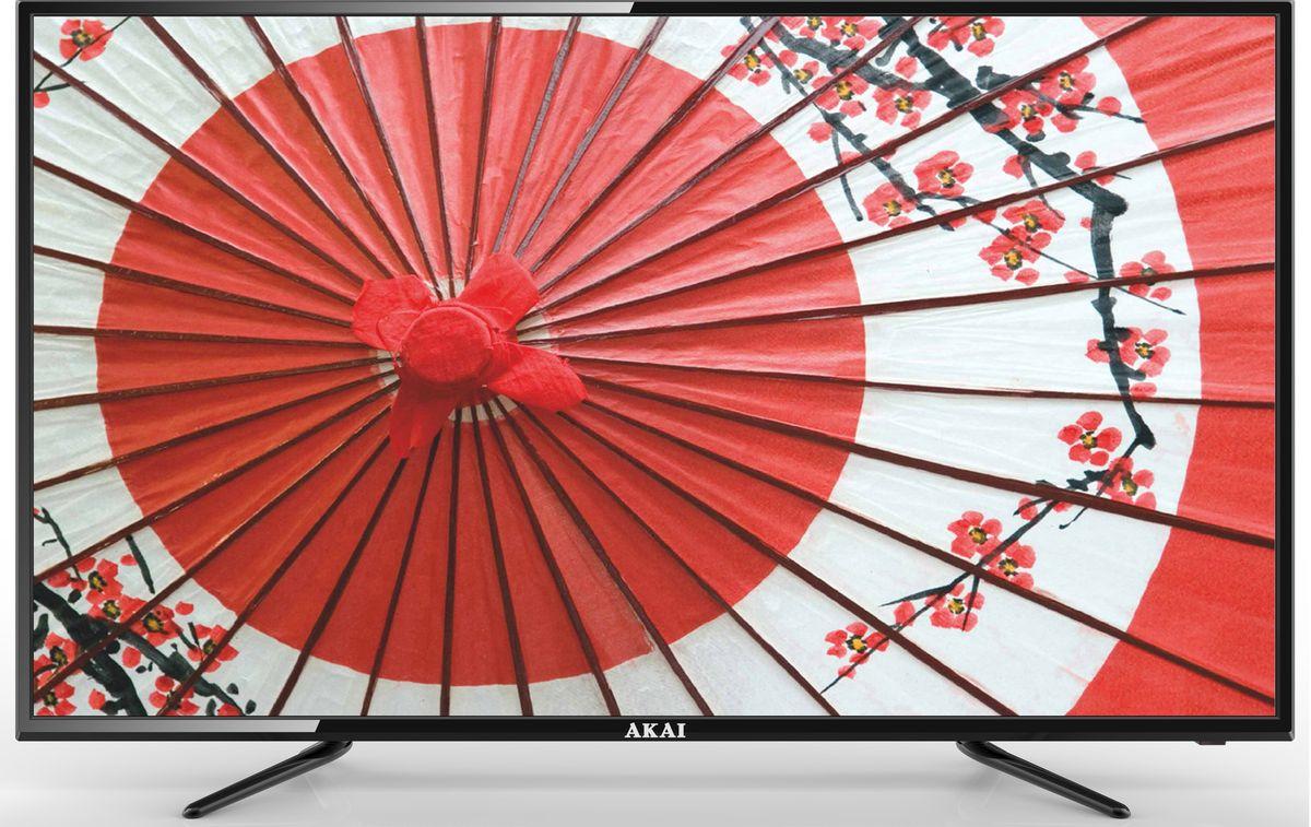 Akai LEA-50B56P телевизорLEA-50B56PAkai LEA-50B56P - ЖК-телевизор со светодиодной подсветкой, разрешением, обеспечивающей хорошую яркость изображения и в то же время экономно расходующей электроэнергию. Телевизор оснащён аналоговым и цифровым ТВ-тюнером. Благодаря этому владелец может принимать программы цифрового ТВ в высоком качестве без дополнительного оборудования. Аудиосистема состоит из двух динамиков мощностью по 10 Вт каждый. Они обеспечивают громкий, насыщенный, реалистичный звук, благодаря которому смотреть фильмы и телепередачи будет особенно приятно. Встроенные разъёмы USB и HDMI можно использовать для подключения различных внешних устройств и носителей информации. С их помощью владелец может выводить на большой экран видеофайлы и изображения с DVD-проигрывателей, ноутбуков, цифровых камер, флешек и так далее.
