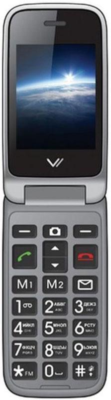 Vertex C309, BlackC309-BLМобильный телефон Vertex C309 - модель в раскладывающемся корпусе с двумя активными экранами. Увеличенные клавиши и удобная клавиатура делают использование телефона комфортным для пожилых людей и людей с пониженным зрением. Предусмотрены кнопки памяти для экстренных номеров и кнопка SOS на задней панели. Док-станция для заряда в комплекте. Два активных дисплея предусмотрены для максимально комфортного ежедневного использования телефона. На внешнем дисплее отображается информация о пропущенных вызовах, оповещения о полученных SMS, а также часы и актуальная дата. Модель C309 оснащена специальными кнопками на передней панели, при помощи которых можно ответить на звонок или отклонить вызов. Также есть кнопка для быстрого доступа к FM-радио. Корпус выполнен из высококачественного пластика. Громкий динамик обеспечивает комфорт в общении. Для того, чтобы вы смогли всегда оставаться на связи телефон C309 поддерживает работу двух SIM-карт,...
