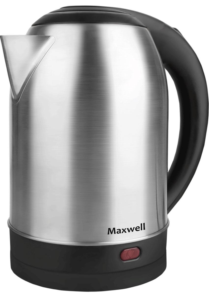 Maxwell MW-1077(ST) электрический чайникMW-1077(ST)Электрический чайник Maxwell MW-1077(ST) прост в управлении и долговечен в использовании. Изготовлен из высококачественных материалов. Прозрачное окошко позволяет определить уровень воды. Мощность 2200 Вт вскипятит 1,8 литра воды в считанные минуты. Беспроводное соединение позволяет вращать чайник на подставке на 360°. Для обеспечения безопасности при повседневном использовании предусмотрены функция автовыключения, а также защита от включения при отсутствии воды.