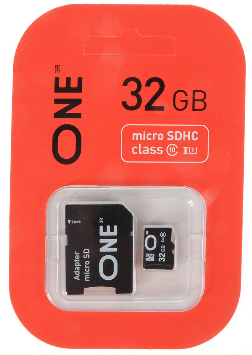 One microSDHC UHS-I Class 10 32GB карта памяти с адаптеромONE-USDH32GU1C10-RAКарта памяти One microSDHC UHS-I Class 10 позволяет осуществлять расширение памяти цифровых плееров, цифровых фотоаппаратов и видеокамер, коммуникаторов, смартфонов, интернет планшетов и других совместимых устройств. Карты памяти One являются качественным решением для хранения и переноса различного рода информации, такой как музыкальный файлы, фотографии, электронные документы и другие важные для вас файлы. Внимание: перед оформлением заказа, убедитесь в поддержке вашим электронным устройством карт памяти данного объема.