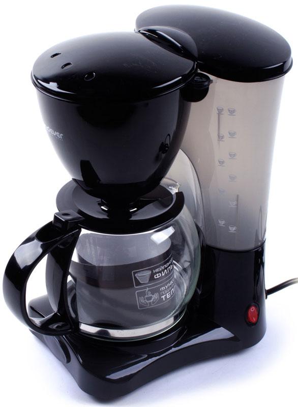 Endever Costa-1042, Black кофеваркаCosta-1042Kофеварка капельного типа Endever Costa-1042 оснащена функцией автоподогрева готового кофе, поворотным держателем фильтра, противокапельной системой - защитный механизм, который не позволяет кофе капать на поддон при отсутствии стеклянного кувшина. Конструктивно капельная кофеварка состоит из стеклянной колбы или кувшина со шкалой на стенке и подогреваемой подставки. Съёмный моющийся нейлоновый фильтр обеспечит долговременное использование прибора.