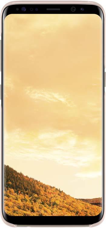 Samsung Clear Cover чехол для Galaxy S8, PinkEF-QG950CPEGRUОригинальный чехол обеспечит надежную защиту задней крышке и торцам устройства. Не сильно увеличивает размеры смартфона. Оснащен необходимыми отверстиями под порты и камеру.