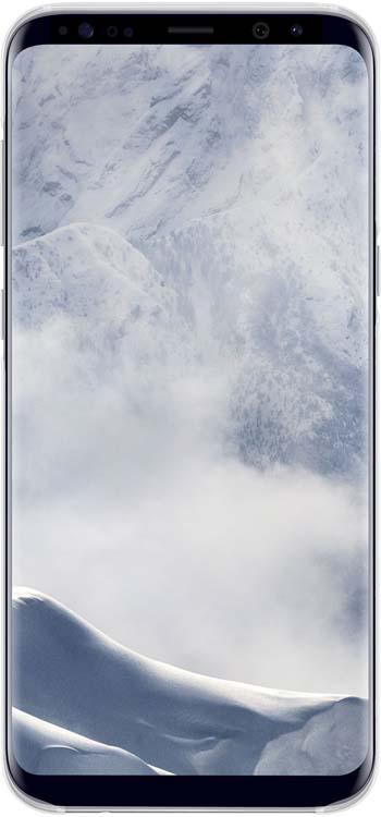 Samsung Clear Cover чехол для Galaxy S8+, SilverEF-QG955CSEGRUОригинальный чехол обеспечит надежную защиту задней крышке и торцам устройства. Не сильно увеличивает размеры смартфона. Оснащен необходимыми отверстиями под порты и камеру.