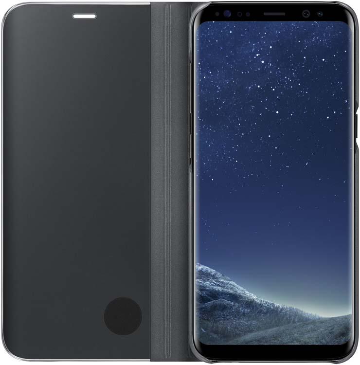 Samsung Clear View Standing чехол для Galaxy S8, BlackEF-ZG950CBEGRUТонкий полупрозрачный чехол подчеркивает стиль и изящество смартфона Samsung Galaxy S8. Аксессуар обеспечивает быстрый доступ к функциям – следите за информацией на экране, не открывая чехла. Сквозь прозрачную верхнюю крышку видны время, пропущенные вызовы, индикатор заряда. Флип-кейс отзывчиво реагирует на прикосновения – отвечайте на звонки одним легким движением. Чехол устойчив к появлению отпечатков пальцев – ваш смартфон всегда в аккуратном состоянии. Особое покрытие чехла защищает смартфон от повреждений, продлевая срок его службы.