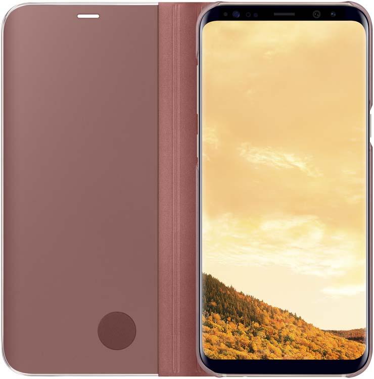 Samsung Clear View Standing чехол для Galaxy S8+, PinkEF-ZG955CPEGRUТонкий полупрозрачный чехол подчеркивает стиль и изящество смартфона. Аксессуар обеспечивает быстрый доступ к функциям — следите за информацией на экране, не открывая чехла. Сквозь прозрачную верхнюю крышку видны время, пропущенные вызовы, индикатор заряда. Флип-кейс отзывчиво реагирует на прикосновения — отвечайте на звонки одним легким движением. Чехол устойчив к появлению отпечатков пальцев — ваш смартфон всегда в аккуратном состоянии. Особое покрытие чехла защищает смартфон от повреждений, продлевая срок его службы.