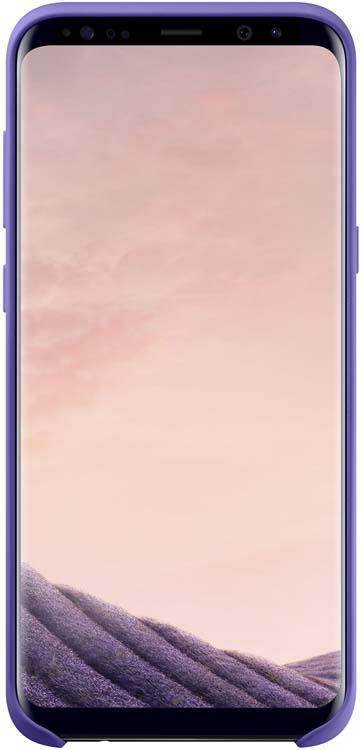 Samsung Silicone Cover чехол для Galaxy S8+, VioletEF-PG955TVEGRUЭластичный ипрочный чехол, выполненный изсиликона. Легкий итонкий, онпрактически неизменяет размеры телефона, плотно охватывая инадежно удерживая его внутри. Отверстия идеально совпадают сразъемами иэлементами управления. Таким образом, предотвращается преждевременный износ смартфона, апользователю обеспечивается максимальный комфорт.