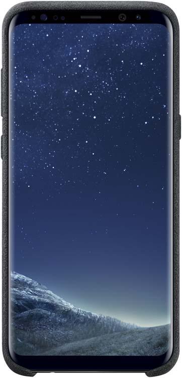 Samsung Alcantara Cover чехол для Galaxy S8+, Dark GrayEF-XG955ASEGRUЛицевая поверхность данного чехла выполнена из Алькантары — ультрамикрофибры высочайшего качества, отличающейся мягкостью, богатой цветовой гаммой, великолепной износостойкостью и долговечностью.