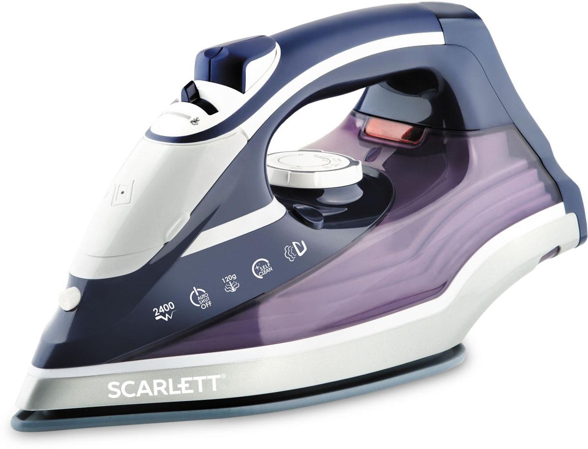 Scarlett SC-SI30K19, Violet утюгSC-SI30K19Scarlett SC-SI30K19 - стильный современный утюг. Его ручка удобно лежит в ладони, с его помощью можно быстро и качественно погладить одежду и постельное бельё.Подошва KeramoPro — металлокерамическая подошва, которая имеет повышенный уровень прочности и скольжения, а также 100% стойкость к пригоранию.Пользователь может гладить с использованием пара, чтобы справиться со складками, а если складки окажутся слишком жёсткими, он может воспользоваться мощным паровым ударом. Также утюг подходит для вертикального отпаривания, причём мощность отпаривания можно регулировать.