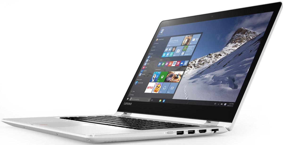 Lenovo Yoga 510-14ISK (80S7005JRK)80S7005JRKYoga 510 (14) 14-ДЮЙМОВЫЙ НОУТБУК С БОЛЬШИМ НАКОПИТЕЛЕМ И БЫСТРОЙ ПОДЗАРЯДКОЙ. 14-дюймовый ноутбук Yoga 510, оснащенный уникальными упорами для рук с алмазной гравировкой, создан для тех, кто любит выделяться из толпы. Он тоньше и легче моделей предыдущих поколений, к тому же объем его накопителя вдвое больше. А это значит, что ты можешь забыть о внешних жестких дисках. Аккумулятор заряжается на 40 % быстрее, чем у обычных ноутбуков. Ноутбук Yoga 510 можно переворачивать, складывать и наклонять, его экран можно поворачивать — в зависимости от конкретных задач. Особенности Увеличенное время работы от аккумулятора с быстрой подзарядкой Свобода для работы и развлечений В зависимости от задач этот ноутбук легко превращается в планшет. Windows 10 (в максимальной комплектации) Поддержка процессоров Intel® 6-го поколения (в максимальной комплектации) Процессоры 6-го поколения Intel® Core™ устанавливают новые стандарты производительности. Высокопроизводительный, многофункциональный...