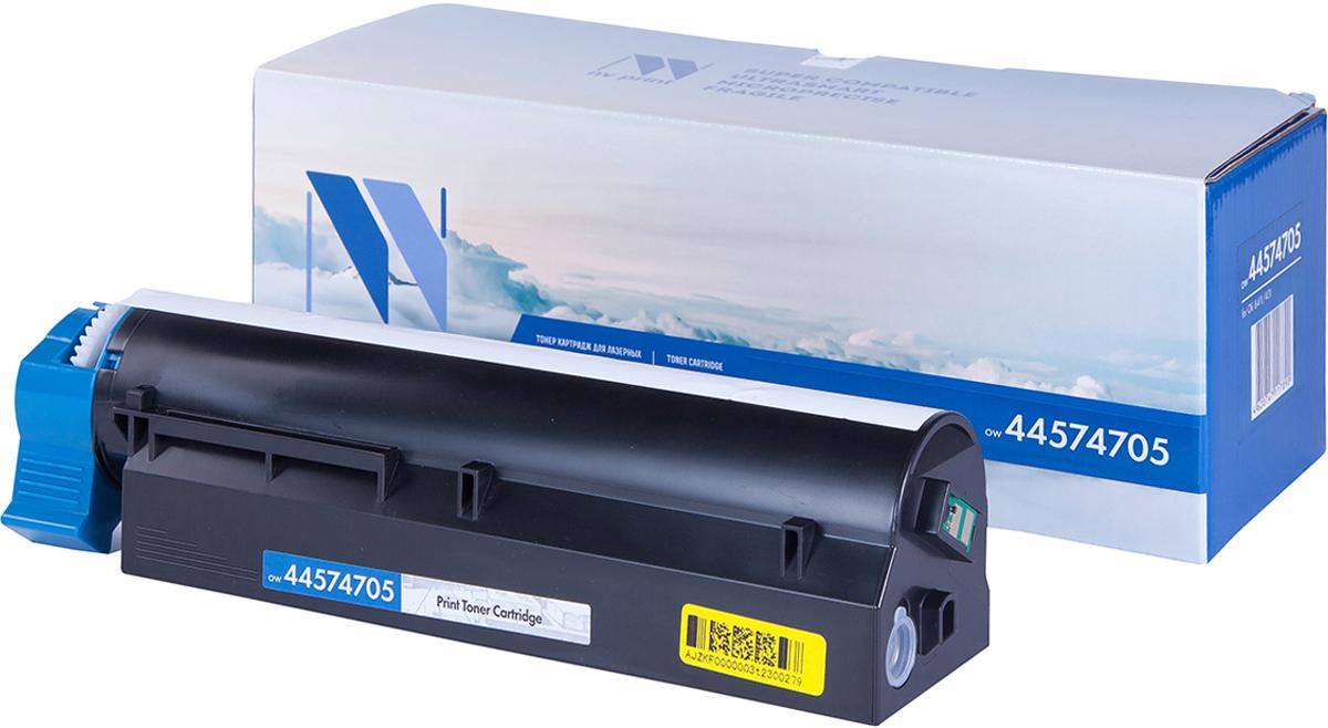 NV Print 44574705, Black тонер-картридж для Oki B411/B431NV-44574705Совместимый лазерный картридж NV Print 44574705 для печатающих устройств Oki B411/B431 - это альтернатива приобретению оригинальных расходных материалов. При этом качество печати остается высоким. Картридж обеспечивает повышенную чёткость чёрного текста и плавность переходов оттенков серого цвета и полутонов, позволяет отображать мельчайшие детали изображения. Лазерные принтеры, копировальные аппараты и МФУ являются более выгодными в печати, чем струйные устройства, так как лазерных картриджей хватает на значительно большее количество отпечатков, чем обычных. Для печати в данном случае используются не чернила, а тонер.