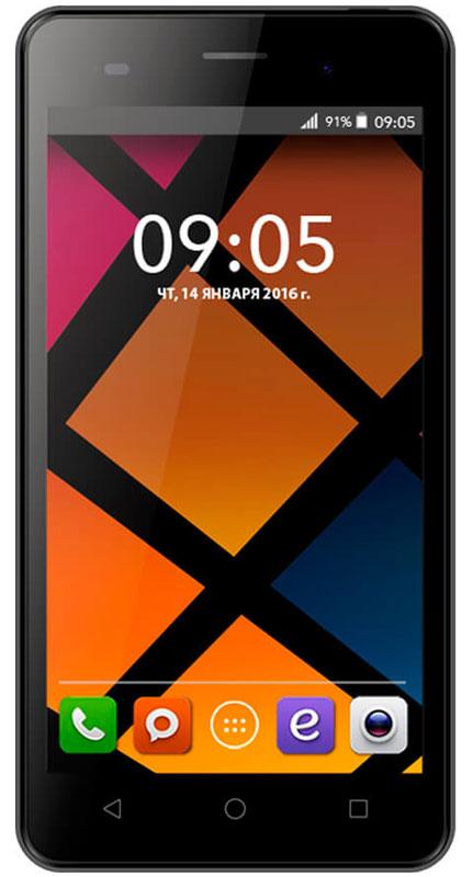 BQ 5020 Strike, Dark Gray46610230Смартфон BQ Strike - это передовые технологии, заключенные в стильном и прочном металлическом корпусе. Полный набор всех необходимых современному пользователю функций обеспечивает максимальный комфорт использования. Качественный 5-дюймовый IPS-дисплей c разрешением 1280х720 удивляет насыщенным, ярким изображением и безошибочной передачей цвета. Мощный 4-ядерный процессор MediaTek MT6580 с частотой 1.3 ГГц обеспечивает стабильно быструю скорость работы при использовании новейших приложений и игр. Основная камера с разрешением матрицы - 13 Мпикс позволяет делать потрясающие снимки в высоком качестве. Фронтальная камера с разрешением 5 Мпикс отлично подходит не только для видеозвонков, но и для селфи. Наличие слотов для двух сим-карт позволяет экономить время и деньги, например, в путешествиях или при использовании разных провайдеров для звонков и интернет серфинга. Смартфон работает под управлением современной...