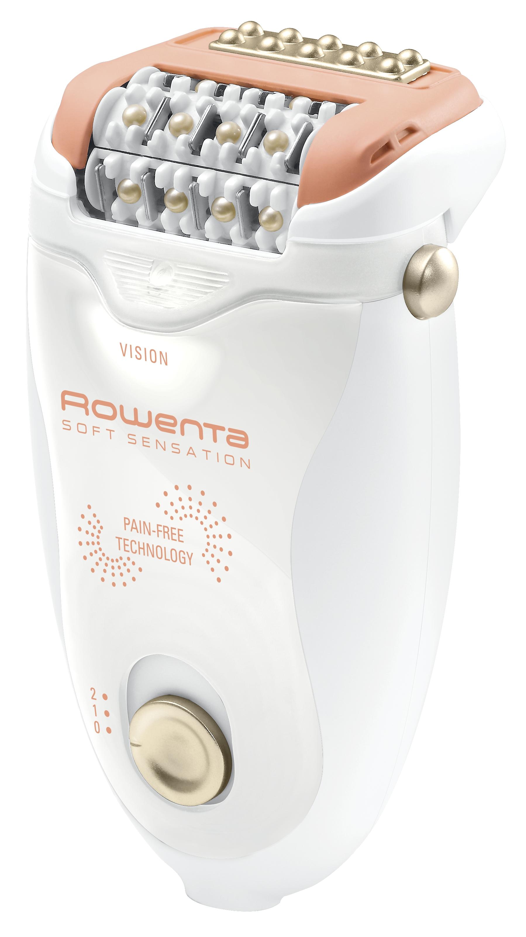 Rowenta EP5700F0 Silence эпиляторEP5700F0Эпилятор Rowenta EP5700F0 Silence обеспечивает повышенный комфорт и надежность использования. Бритвенная насадка гарантирует нежное и качественное удаление всех нежелательных волос. Для наиболее комфортной эпиляции в данной модели реализована уникальная технология Pain-Free, которая благодаря высокой частоте движения массажной пластины и системе многочисленных импульсов успокаивает кожу во время эпиляции. В комплект входит передовая съемная насадка с плавающей головкой и 24 высокоточными пинцетами запатентованной формы, которые бережно приподнимают и захватывают волоски и обеспечивают идеальную гладкость кожи. Эпилятор совмещает высокоэффективное удаление волос с технологией обезболивания, обеспечивая идеальную гладкость кожи. Система десенсибилизации, благодаря вибрирующей головке, работающей с частотой 1400 импульсов в секунду, делает эпиляцию приятным и безболезненным процессом. Технология Микро-контакт обеспечивает плотное прилегание к коже, а 24 высокоточных...