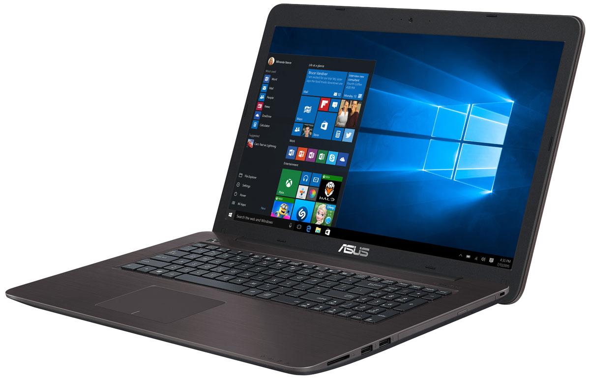 ASUS X756UQ, Dark Brown (90NB0C31-M02550)90NB0C31-M02550Ноутбук ASUS X756UQ - универсальный мобильный компьютер, одинаково хорошо приспособленный и для работы, и для развлечений. Стильный дизайн, прочный корпус, энергоэффективный процессор и аудиотехнология SonicMaster - вот слагаемые их успеха! ASUS X756UQ представляет собой доступное по цене устройство с достаточно мощной конфигурацией. В нем используется процессор Intel Core i5, чья производительность дополняется современной графической подсистемой NVIDIA GeForce 940MX. Такой ноутбук оптимально подходит для продуктивной работы в многозадачном режиме, равно как и для развлекательных мультимедийных приложений. Эксклюзивная технология Splendid позволяет быстро настраивать параметры дисплея в соответствии с текущими задачами и условиями, чтобы получить максимально качественное изображение. Эксклюзивная система управления энергопотреблением, реализованная в ноутбуке ASUS X756UQ позволяет выходить из спящего режима всего за пару секунд, причем в режиме...