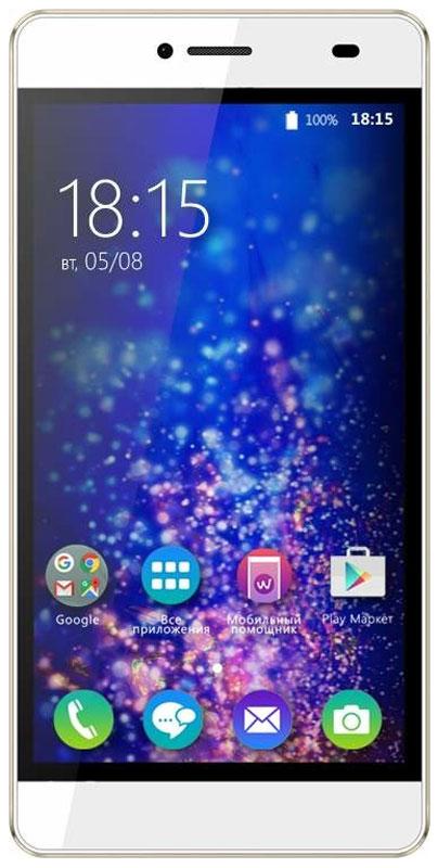 BQ 5070 Magic LTE, Pearl White46611745За тонким корпусом BQ 5070 Magic LTE спрятан производительный четырехъядерный процессор, 13-мегапиксельная камера и HD-дисплей с разрешением 1280 х 720 точек. Также устройство поддерживает современную технологию LTE.Четырехъядерный процессор с тактовой частотой 1,25 ГГц и 2 ГБ оперативной памяти позволяют смартфону эффективно отвечать на пользовательские запросы и успешно справляться с поставленными задачами.Смотрите любимые фильмы или фото на смартфоне BQ Magic. Яркий IPS-экран с диагональю 5 дюймов и HD разрешением, удивляет насыщенными красками и четкостью изображения.Для хранения данных пользователю выделено 16 ГБ встроенной памяти, которую можно при необходимости расширить с помощью Micro SD карты до 128 ГБ. Данныйобъем памяти дает ощутимое быстродействие работы в любом приложении.Данная модель получила две камеры: 13 Мпикс основную и 5 Мпикс фронтальную для селфи. Обе камеры создаютснимки высокого качества, но не менее важно то, что эти фотографии будут эффектно смотреться на большом 5 дюймовом экране с яркой цветопередачей.В качестве программной платформы выбрана операционная система Android 6.0 с фирменным графическим интерфейсом, которая позволит пользователю получить полный комплекс мультимедийных возможностей. А обязательная поддержка двух сим-карт - уже давно функция каждого уважающего себя смартфона.Смартфон сертифицирован EAC и имеет русифицированный интерфейс меню и Руководство пользователя.