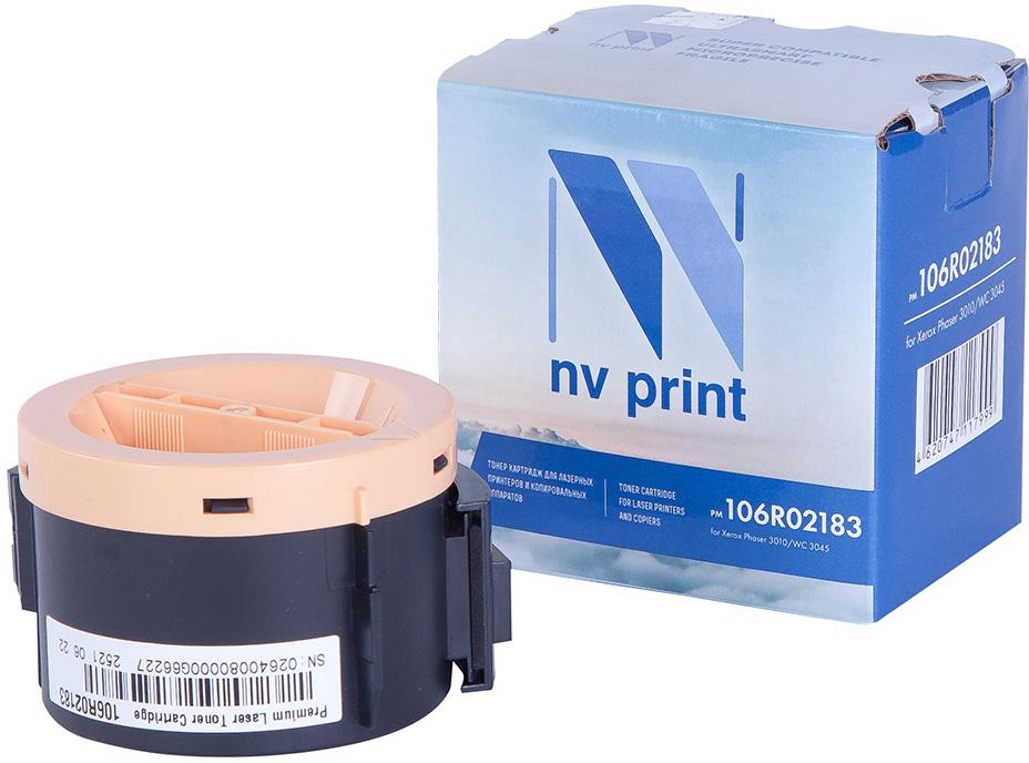 NV Print NV-106R02183, Black тонер-картридж для Xerox Phaser 3010/WC 3045NV-106R02183Совместимый лазерный картридж NV Print NV-106R02183 для печатающих устройств Xerox – это альтернатива приобретению оригинальных расходных материалов. При этом качество печати остается высоким. Картридж обеспечивает повышенную чёткость чёрного текста и плавность переходов оттенков серого цвета и полутонов, позволяет отображать мельчайшие детали изображения. Лазерные принтеры, копировальные аппараты и МФУ являются более выгодными в печати, чем струйные устройства, так как лазерных картриджей хватает на значительно большее количество отпечатков, чем обычных. Для печати в данном случае используются не чернила, а тонер.