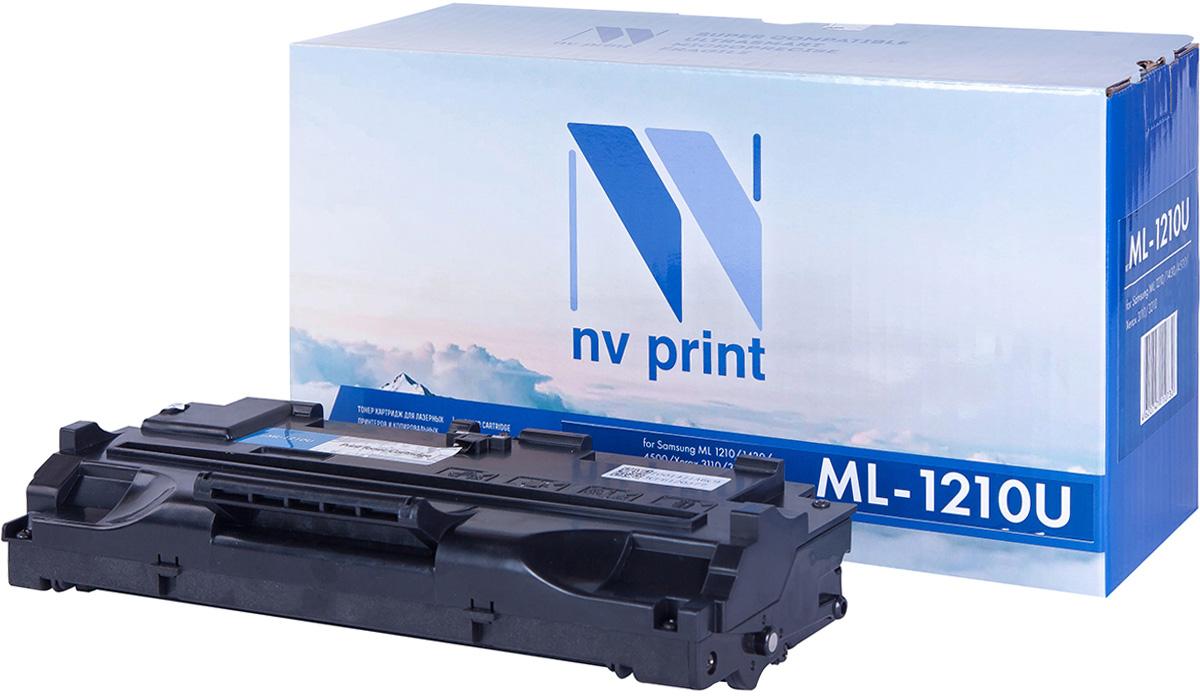 NV Print NV-ML1210UNIV, Black тонер-картридж для Samsung ML-1010/1020/1210/1220M/1250/1430/4500/4600/808/MSYS-5100P/SF-5100/5100P/515/530/531P/535e/555P/Xerox Phaser 3110/3210/Ricoh H293/Lexmark E210NV-ML1210UNIVСовместимый лазерный картридж NV Print NV-ML1210UNIV для печатающих устройств Samsung, Xerox, Ricoh и Lexmark - это альтернатива приобретению оригинальных расходных материалов. При этом качество печати остается высоким. Картридж обеспечивает повышенную чёткость чёрного текста и плавность переходов оттенков серого цвета и полутонов, позволяет отображать мельчайшие детали изображения. Лазерные принтеры, копировальные аппараты и МФУ являются более выгодными в печати, чем струйные устройства, так как лазерных картриджей хватает на значительно большее количество отпечатков, чем обычных. Для печати в данном случае используются не чернила, а тонер.