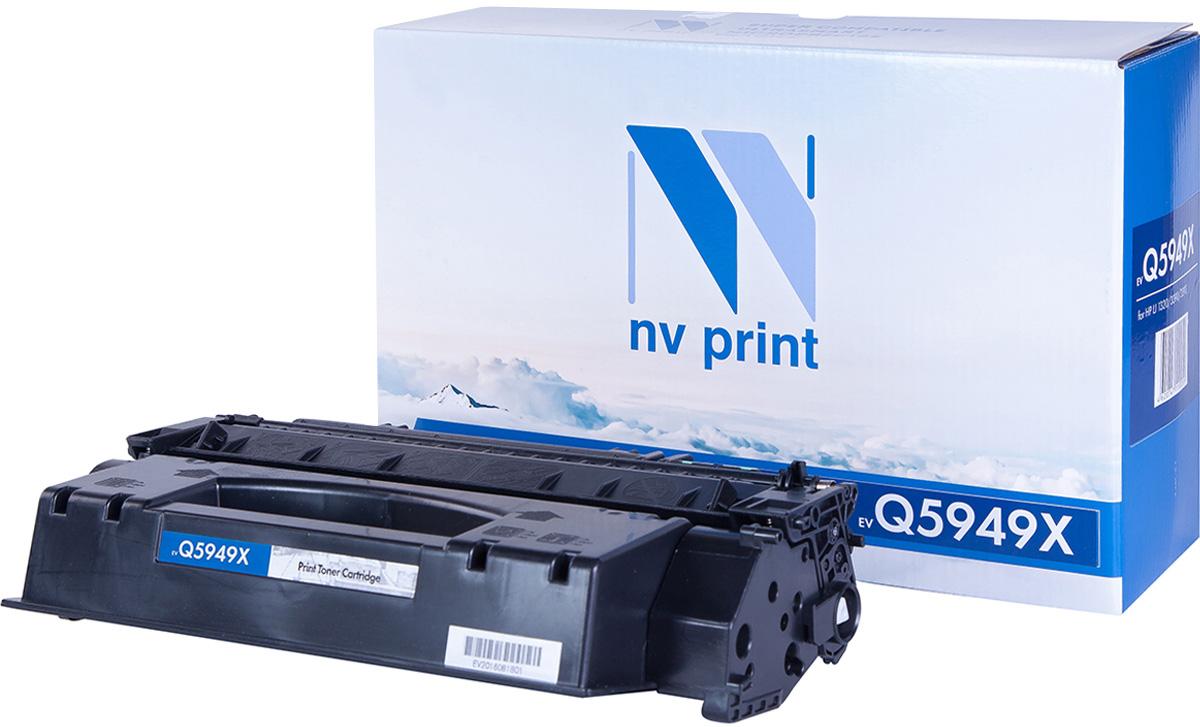 NV Print NV-Q5949X, Black тонер-картридж для HP LaserJet 1320/3390/3392NV-Q5949XСовместимый лазерный картридж NV Print NV-Q5949X для печатающих устройств HP - это альтернатива приобретению оригинальных расходных материалов. При этом качество печати остается высоким. Картридж обеспечивает повышенную чёткость чёрного текста и плавность переходов оттенков серого цвета и полутонов, позволяет отображать мельчайшие детали изображения.Лазерные принтеры, копировальные аппараты и МФУ являются более выгодными в печати, чем струйные устройства, так как лазерных картриджей хватает на значительно большее количество отпечатков, чем обычных. Для печати в данном случае используются не чернила, а тонер.