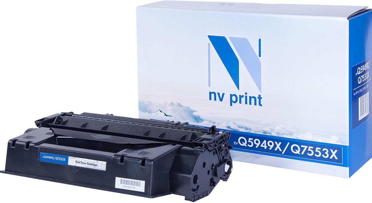 NV Print NV-Q5949X/Q7553X, Black тонер-картридж для HP LaserJet 1320/3390/3392/P2014/P2015/P2015N/P2015D/P2015DN/P2015X/M2727MFPNV-Q5949X/Q7553XСовместимый лазерный картридж NV Print NV-Q5949X/Q7553X для печатающих устройств HP - это альтернатива приобретению оригинальных расходных материалов. При этом качество печати остается высоким. Картридж обеспечивает повышенную чёткость чёрного текста и плавность переходов оттенков серого цвета и полутонов, позволяет отображать мельчайшие детали изображения.Лазерные принтеры, копировальные аппараты и МФУ являются более выгодными в печати, чем струйные устройства, так как лазерных картриджей хватает на значительно большее количество отпечатков, чем обычных. Для печати в данном случае используются не чернила, а тонер.